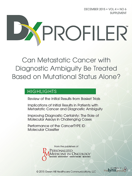Dx Profiler: Can Metastatic Cancer with Diagnostic Ambiguity Be Treated Based on Mutational Status Alone?